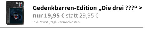 Gedenkbarren-Edition Die drei ???