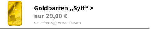 Goldbarren Sylt