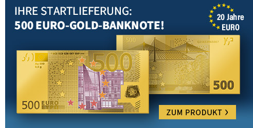 500 Euro Gold-Banknote