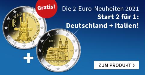 Die 2-Euro-Neuheiten 2021 - Start 2 für 1: Deutschland + Italien!