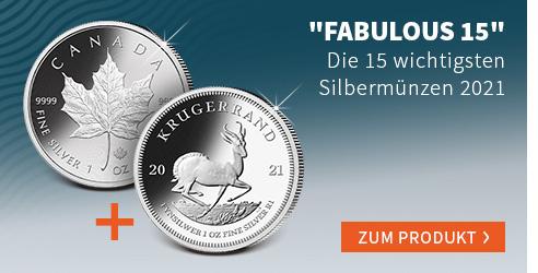 die 15 wichtigsten Silbermünzen
