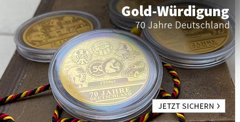 Gold-Unzen zu 70 Jahre Deutschland